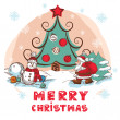 Christmas colorful vector card — Stock Vector #31444415