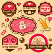 Valentine day labels — Foto Stock