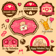 Valentine day labels — Stockfoto