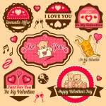 Valentine day labels — Stock Photo