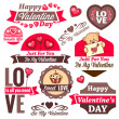 Valentine day logos — Stock Photo