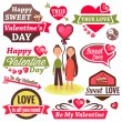 Valentine day logos — Stock Photo #31455291