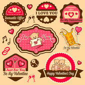 Valentine day labels — 图库照片
