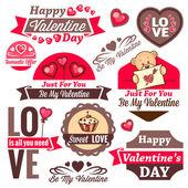 Valentine day logos — Stock Photo