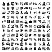 Big education vector icons set — Stockvektor