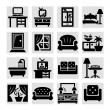 Furniture vector icons — Stock Vector
