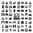 Big furniture icons set — Stock Vector