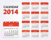 Calendar 2014 new — Stock Vector