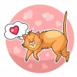 Сute valentine cat — Stock Photo
