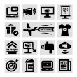 Advertising and marketing icons set — Stock Vector