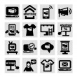 Advertising and marketing icons — Imagen vectorial