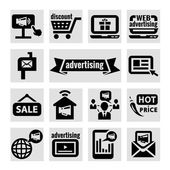 Advertising icons — Stock Vector