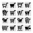 Shopping basket icons — Stock Vector