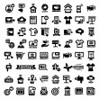 Big advertising icons set — Image vectorielle
