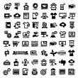 Big advertising icons set — Stock Vector