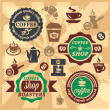 Coffee labels and icons — Stock Vector