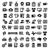 Big advertising icons set — Stok Vektör
