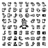 Big phone icons set — Stockvektor