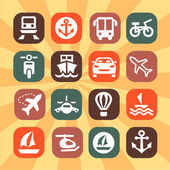 Color transportation icons — Stock Vector
