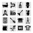 Bathroom icons — Stock Photo