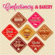 Bakery design elements — Stock Photo