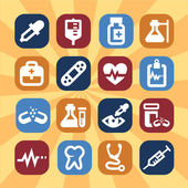 медицинские иконки — Стоковое фото