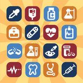 ícones médicos — Foto Stock