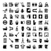 Big cleaning icons set — Stockfoto