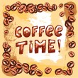 Coffee time poster — Stock Vector