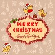 Christmas hand drawn card — Stock Vector #35585425
