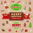 Christmas vintage card — Stockvectorbeeld
