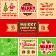 Vector vintage christmas — Stock Vector
