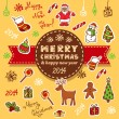 Vintage christmas card — Stock Vector #35593349
