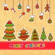 Christmas vector design elements — Stock Vector
