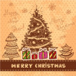 Vector vintage christmas card — ストック写真