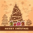 Stockfoto: Vector vintage christmas card