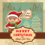 Christmas retro card — Stock Photo #36471271