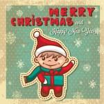 Retro christmas card — Stock Photo #36471275