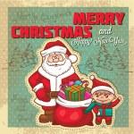Vintage retro christmas card — Stock Photo #36471295