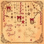 Hand drawn christmas card — Stock Photo