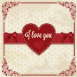 Stock Photo: Retro card with heart
