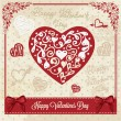 Vector love vintage card — 图库照片