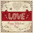 Vintage love card — Foto de Stock