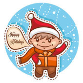 Cute little santa boy — Stock Photo