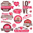 Valentine day set — Vector de stock