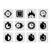 Time and clocks icons — Stock Vector