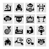 Fitness and health icons — Stock Vector