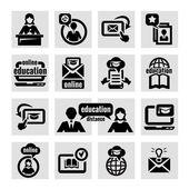 набор иконок онлайн образования — Cтоковый вектор