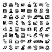 Big online education icons set — Stock Vector