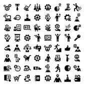 Big business success icons set — Stock Vector
